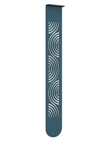 verticale in lamiera per balconi con portafiori