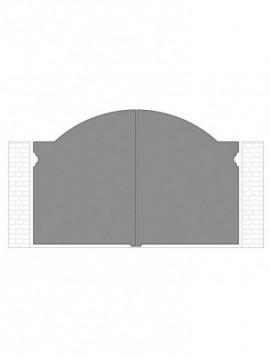 cancello 2 ante autoportante composto da nr. 2 pannelli. tipologia curvatura come art. 240