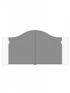 cancello 2 ante autoportante composto da nr. 2 pannelli. tipologia curvatura come art. 270