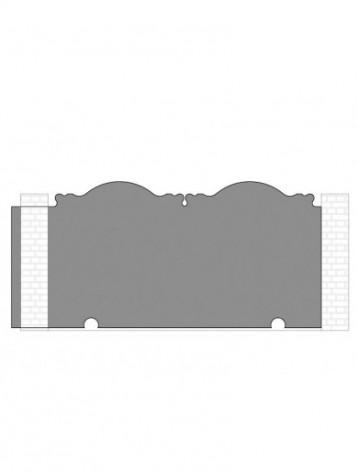 cancello scorrevole autoportante composto da nr. 1 pannello. tipologia curvatura come art. 280