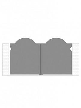 cancello 2 ante autoportante composto da nr. 2 pannelli. tipologia curvatura come art. 300