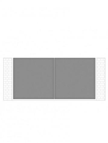 cancello 2 ante con telaio composto da nr. 2 pannelli. tipologia come art. am1100