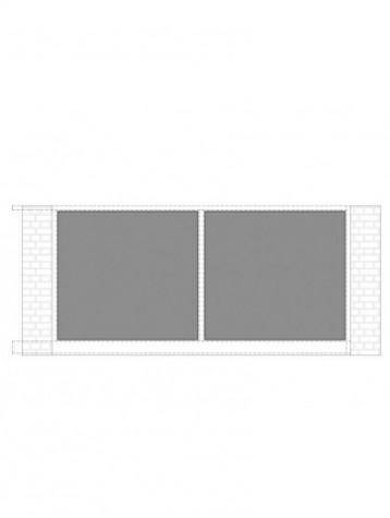 cancello scorrevole con telaio composto da nr. 2 pannelli. tipologia come art. am1240