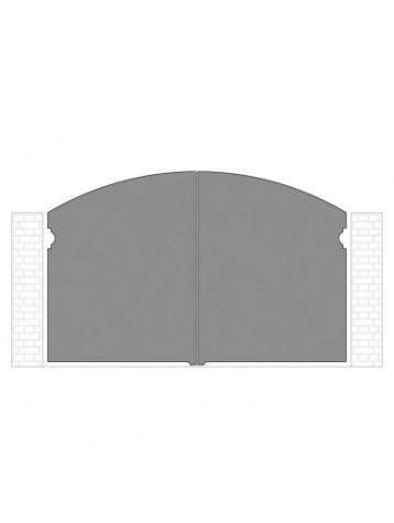 cancello 2 ante autoportante composto da nr. 2 pannelli. tipologia curvatura come art. am1340