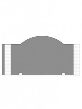 cancello scorrevole autoportante composto da nr. 1 pannello. tipologia curvatura come art. 240