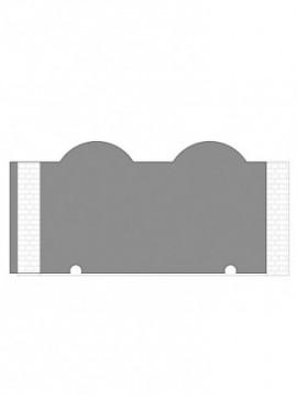 cancello scorrevole autoportante composto da nr. 1 pannello. tipologia curvatura come art. 300