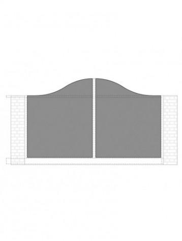 cancello scorrevole con telaio composto da nr. 2 pannelli. tipologia come art. am1010