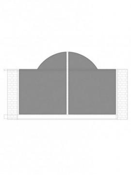 cancello scorrevole con telaio composto da nr. 2 pannelli. tipologia come art. am1030