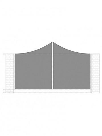 cancello scorrevole con telaio composto da nr. 2 pannelli. tipologia come art. am1170