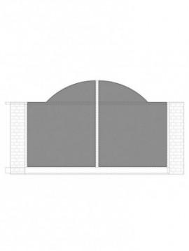 cancello scorrevole con telaio composto da nr. 2 pannelli. tipologia come art. 260