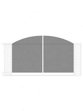 cancello scorrevole con telaio composto da nr. 2 pannelli. tipologia come art. am1340