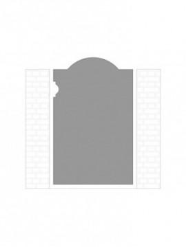 cancello pedonale autoportante composto da nr. 1 pannello. tipologia come art. 241
