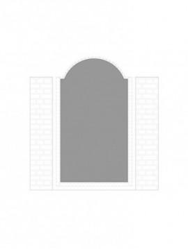 cancello pedonale con telaio composto da nr. 1 pannello. tipologia come art. 261