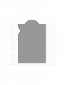 cancello pedonale autoportante composto da nr. 1 pannello. tipologia come art. 301