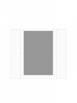 cancello pedonale con telaio composto da nr. 1 pannello. tipologia come art. 321
