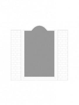 cancello pedonale con telaio composto da nr. 1 pannello. tipologia come art. am1041