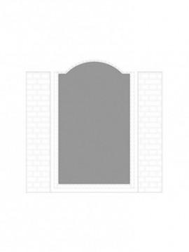 cancello pedonale con telaio composto da nr. 1 pannello. tipologia come art. am1051