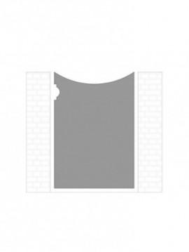 cancello pedonale autoportante composto da nr. 1 pannello. tipologia come art. am1061